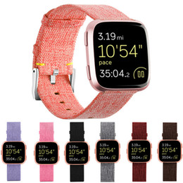 fitbit wristband straps Canada - Mayitr Replacement Woven Bands Nylon Wristband Band Strap Band Sport Strap For Fitbit Versa Smart Wrist Watch