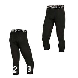 Wholesale Men Capri Running Tights GYM Pant Bodybuilding Basketball Exercise Fitness Workout Clothing Exercise Sport Cropped Legging E1023