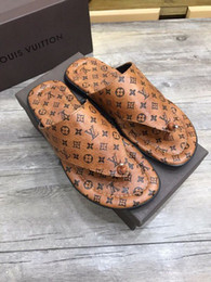 96da134dd33f Brown printed flip flops 207507 guan Men Dress Shoes BOOTS LOAFERS DRIVERS  BUCKLES SNEAKERS SANDALS