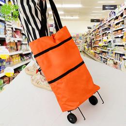 Best-selling household portable folding back shopping cart portable tug hanging bag Oxford cloth pushing shopping cart on Sale