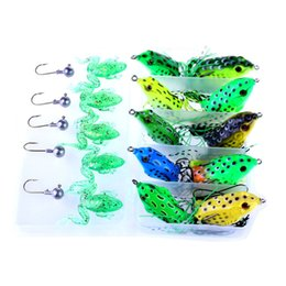 Mix Artificial Bait UK - wholesale Soft Silicone Fishing Lure Mixed 3D Fishings Lures Set With Box Hook Baits Bionic Artificial Bait Fish Hook Accessories Tackle