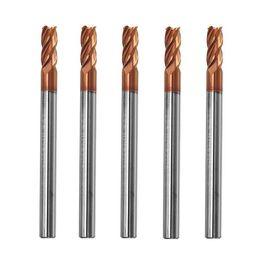 $enCountryForm.capitalKeyWord NZ - 5pcs 4mm 4 Flutes Tungsten Carbide End Mill Cutter HRC55 AlTiN Coating End Mill Cutter
