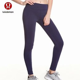 Discount yoga pants Hot sale!!! Hot! Newest Classic Hot Full Color Dark Blue Solid Color Nine Point Women Pants Yoga Sportswear