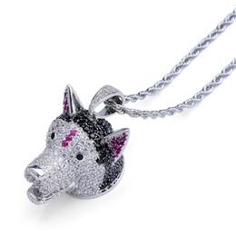 $enCountryForm.capitalKeyWord NZ - Hiphop Pet Dog Charm Pendant Necklace 18K Gold Plated Jewelry Ice Out Brand Designer Men Hip Hop Necklaces