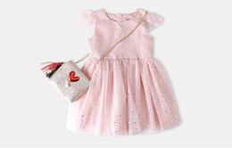 6ecd39f421 2018 Spring Summer Girl Short Sleeve Dress Princess Chiffon Pleated Dress  Skirt Starry Sky Cotton Beautiful Gauzy Dress Tutu Kids Clothing
