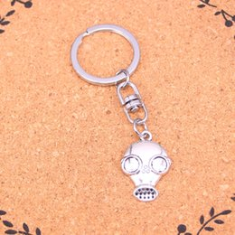 2019 Fashion 20pcs Antique Silver Color Gas Mask Steampunk Pendant 28*19mm Leather Chain Necklace Black Leather Cord Necklace Pendant Necklaces Necklaces & Pendants