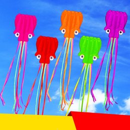 Line for kite online shopping - Kite Four Meters Soft Octopus Funny Kites For Children With Thirty Meters Wire Plate Hot Sale hy W