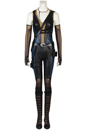 high quality deadpool costumes Canada - New movie Deadpool 2 domino Cosplay Costume Hallowmas high quality full Suit