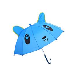 kids cartoon umbrella 2019 - High Quality Windproof Reverse Folding 3D ear Modeling Kids Umbrellas Rain Protection C-Hook Hands Lovely Cartoon Design