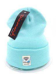 China 2018 Fashion Unisex Spring Winter Hats for Men women Knitted Beanie Wool Hat brand Knit Bonnet diamond Beanie Gorros touca Thicken Warm Cap supplier diamond knit skull cap suppliers