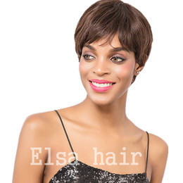 Pixie Cuts Wig Australia - Full Culticle pixie cut none lace wig short full lace Human Hair Wigs For Black Women Brazilian Full Lace Front Bob Human hair Wig