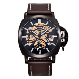 Watches Mce Brand Classic Golden Skeleton Mechanical Watch Men Stainless Steel Strap Top Brand Luxury For Vip Drop Shipping Wholesale Highly Polished Mechanical Watches