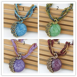 Discount twisted singapore chain - Brand new Bohemian strings necklaces retro ethnic style creative peacock pendant necklace jewelry model no. NE897