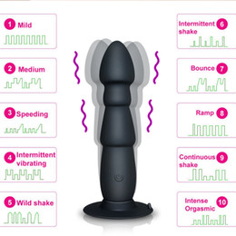 Wireless Prostate Massager Anal Vibrator for Men, Silicone Men Masturbator Anal Plug Adult Vibrators Sex Toys with Suction Cup on Sale