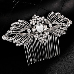 hair fly NZ - Butter Fly Sharp Sliver Wedding Comb Beaded Rhinestones Wedding Hair Jewelry Crystal Hair Accessories Party Decoration