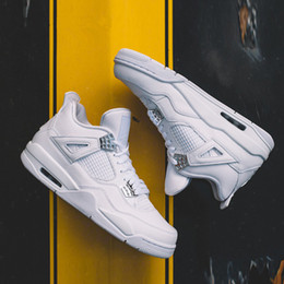 $enCountryForm.capitalKeyWord Canada - new 2019 Best Quality 4 4s White Cement Pure Money men Basketball Shoes Bred Royalty Game Royal Sports Training Sneakers With Shoes Box