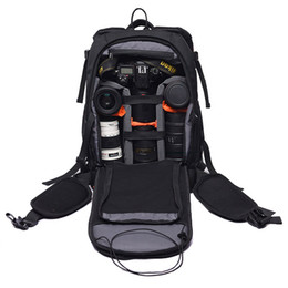 Dslr Cameras Bags Australia - Roadfisher Small Photo Video Bag Photography DSLR SLR Camera Backpack Travel Mochila Insert 14'' Laptop For