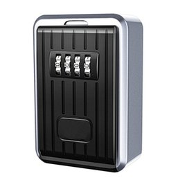 alloy w UK - FGGS Lock Box 4 Digit Combination Waterproof Box Aluminum Alloy Weather Resistant Key Hider with Resettable Code Key Storage W