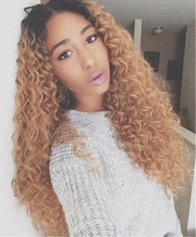 Full lace wigs For white women online shopping - 2018 Top Sale Curly Long Synthetic Hair Full Wig None Lace Wig Heat Resistant Fiber Brazilian hair Wigs For White And Black Women