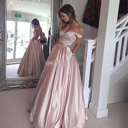 cheap red jackets for women UK - Robe De Soiree A-line Long Evening Dresses 2018 Sexy Off Shoulder V Neck Prom Dress Evening Gown With Belt For Arabic Women Cheap