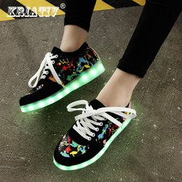 ef6b912ed7c KRIATIV Usb Charging kid Shoes Glowing Sneakers LED slippers do with Light  up girls shoes infant tenis led luminous sneakers Y18110304