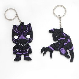 dolls action 2019 - Avengers 3 Infinity War Thanos Black Panther Groot PVC Action Figures Toys Doll Keychain Kids Gift Free shipping cheap d