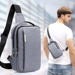 $enCountryForm.capitalKeyWord NZ - Waterproof Canvas Chest Bag Men's Shoulder Messenger Bag Multi Function Outdoor Sports Running Travel Pockets Hunting Bags