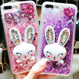 $enCountryForm.capitalKeyWord NZ - For iPhone X 8 7 6 6S 9 5 5s Plus Bling Luxury Designer Rabbit Holder Full Protective Quicksand Cell Phone Case 10154