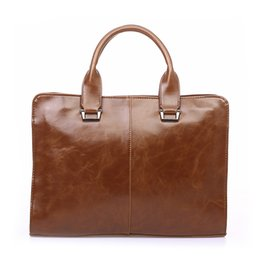 large leather laptop bags 2018 - Vintage Briefcase for Men Dress Style Business Casual Bags Pu Leather Large Capacity Shoulder Bags Luxury Brand Laptop P