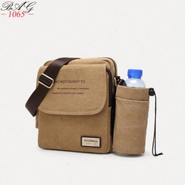 small canvas crossbody bag NZ - Fashion Brands High Quality Vintage Men Bag Canvas Handbag Men Shoulder messenger Bag Small Travel Crossbody Bags