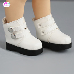 Accessories For Boots Shoes NZ - 1pcs 7.2cm Mini Little Boots Shoes For dolls 16 Inch Sharon doll and Zapf baby born doll accessories