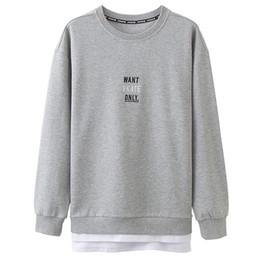 449f84f6 Men T Shirt Hoodies 2018 New Autumn Thin Sweatshirts Letter Printing O Neck  Shirts Male Long Sleeve Pullovers