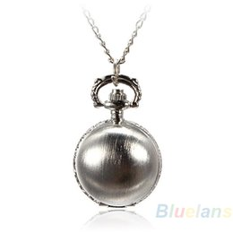 $enCountryForm.capitalKeyWord UK - 2017 New Arrival 5 Colors Antique Retro Vintage Ball Metal Steampunk Quartz Necklace Pendant Chain Small Pocket Watch For Gifts