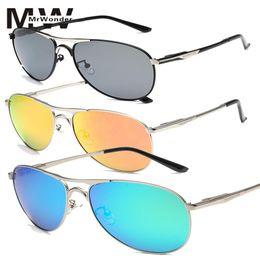 ff020cf13caa Discount frogs sunglasses - mrwonder Men's Polarized sunglasses UV400 Man  Metal Frame Sunglasses Frog Mirrored Retro