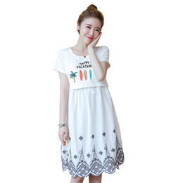 6ce7b7d2522a4 Summer Fashion Maternity Nursing Dress Breastfeeding Clothes for Pregnant  Women Pregnancy Breast Feeding Casual Clothing