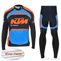 cycling kits 2019 - KTM team Cycling Winter Thermal Fleece jersey (bib) pants sets MTB High Quality sport kits men wear NEW C1212 discount c