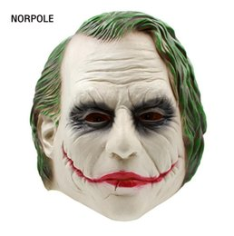 rubber face mask for halloween NZ - Joker Mask Batman Clown Costume Cosplay Movie Adult Party Masquerade Rubber Latex Masks for Halloween