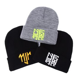 1677d00a069 2017 New Winter Warm Knitted Hat Soft and Flexible Style Men NJR Skullies  Bboy Winter Hip Hop Warm Hats Women Men