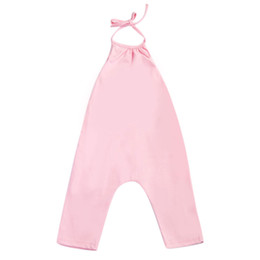 $enCountryForm.capitalKeyWord UK - Fashion Baby Girls Pink Strap Rompers Jumpsuit Toddler Kids Harem Pants Trousers Baby Girl Summer Overalls Clothes for 0-7Year