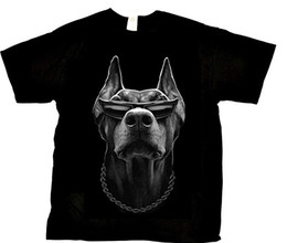 $enCountryForm.capitalKeyWord UK - Doberman With Shades And Necklace Cool Dog Lover Men T-shirt Men Adult Slim Fit T Shirt S - Xxxl