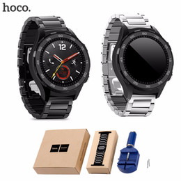huawei smart watches 2019 - HOCO Silver Black 3 Beads Stainless Steel Strap for HUAWEI Smart Watch 2nd Watch Band for HUAWEI 2 Sport Replacement Ban