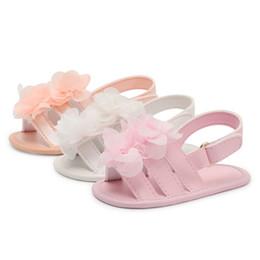 Brown Toddler Sandals Australia - Toddler Baby girls shoes Summer shoes Soft PU Sandal Magic Tape Sole Non-Slip Sneaker Prewalker For Summer 2018