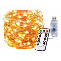 $enCountryForm.capitalKeyWord UK - 33ft Dimmable USB LED String Lights 8 Modes 100 LEDs Twnikle Fairy Lights USB Powered Firefly String Lights with Remote Control for Holiday