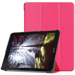 Acer Cases Australia - Ultra Slim Tri-Fold PU Leather Case with Stand for Acer Chromebook Tab 10 Tablet 9.7 inch Cover Sleep Wake Functions 30pcs