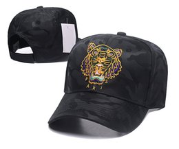 white tiger hat Canada - 25 Style 2018 Designer Baseball Caps New Brand Tiger Head Hats Gold Embroidered Bone Men Women Casquette Sun Hat Gorras Sports Cap