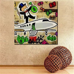 Airplane Art NZ - Alec Monopoly Fairey Airplane,MODERN ABSTRACT LARGE ART OIL PAINTING WALL DECOR CANVAS