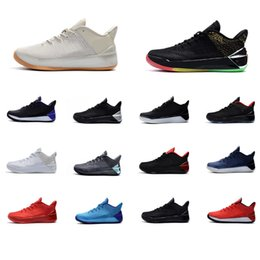 reputable site 6544e 8c465 Cheap Mens Kobe AD 12 elite low cut basketball shoes Rise and shine Bred  Cool Grey Black Red Gold KB sneakers boots tennis for sale with box