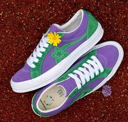 1be492fba1 Top Tyler,the Creator x GOLF le FLEUR Training Sneakers,2018 new Mens Womens  Fashion Casual skate shoes,Fire lightning Sports Running Boots