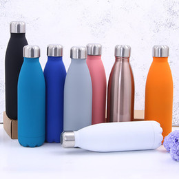 Chinese  500ML Water Cup Insulation Mug Vacuum Bottle Sports 304 Stainless Steel Cola Bowling Shape Travel Mugs 8 Color Free DHL WX9-426 manufacturers