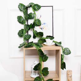 $enCountryForm.capitalKeyWord UK - Artificial Plants Hanging Vine leaves Green Ivy Leaves Artificial Grape Vine Fake Parthenocissus Foliage Leaves Home Wedding Bar Decoration